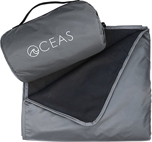 Oceas Outdoor Waterproof Blanket Warm Fleece Great for Camping, Outdoor Festival, Beach, and Picnic Use - Extra Large All Weather and Waterproof Throw Blanket