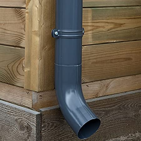 , Verzinkt | in Titanzink//Verzinkt//Anthrazit Type 110 Zink Dachrinnen//Regenrinnen Set Pultdach Ideal f/ür Veranda 1 Dachseite /Überdachung oder Vordach. Komplettes Set bis 13.60 m