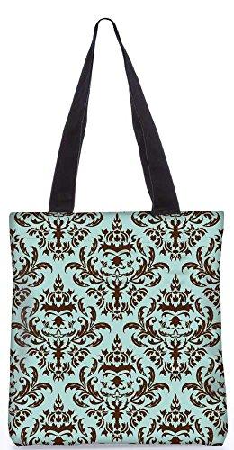 """Snoogg Lite Blaues Muster-Einkaufstasche 13,5 X 15 In """"Einkaufstasche Dienstprogramm Trage Von Polyester Canvas"""