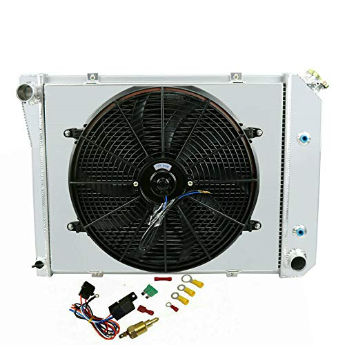 ALLOYWORKS 3 Row Radiator Shroud Fan for Oldsmobile Cutlass 80-87/Buick Regal 80-87 83 86 1980 Chevrolet Camaro Radiator