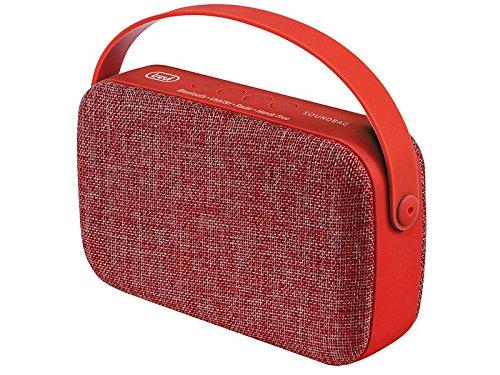 Trevi XR 85 BT 10W Rojo - Altavoces portátiles (10 W, Inalámbrico, Micro-USB, Rojo, Bolsa, Tela, Caucho)
