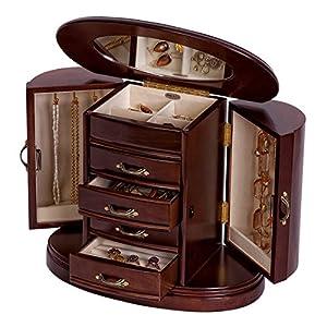 Mele & Co. Heloise Wooden Jewelry Box (Walnut Finish)