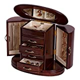Mele & Co. Heloise Wooden Jewelry Box (Walnut Finish)