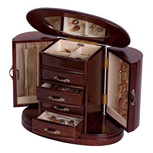 Mele & Co. Heloise Wooden Jewelry Box (Walnut Finish) by Mele & Co. (Image #1)