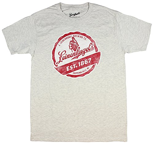 Leinenkugel Mens' Distressed Est. 1667 Brewing Company Logo T-Shirt - Leinenkugels Beer