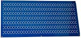 Wall Control 30-HP-1632 BU 16'' x 32'' Horizontal Blue Metal Pegboard Tool Board Panel