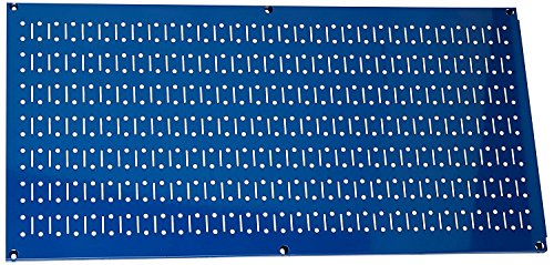 Wall Control Pegboard 16in x 32in Horizontal Blue Metal Pegboard Tool Board Panel