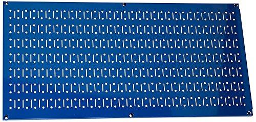 Wall Control 30-HP-1632 BU 16'' x 32'' Horizontal Blue Metal Pegboard Tool Board Panel by Wall Control
