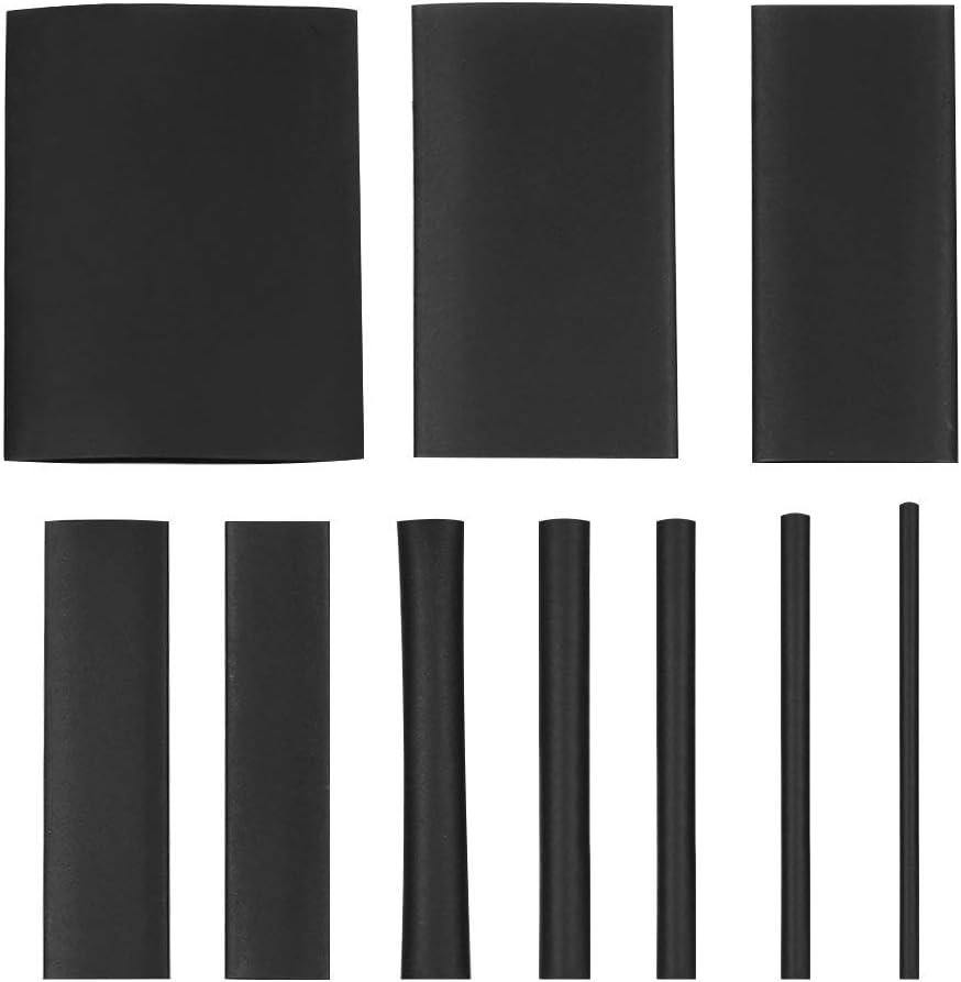 Cikuso Ensemble de Tubes Thermor/étractables Thermo-R/étractables de 415 Pi/èces Dans 10 Assortiments Manchons Thermo-R/étractables Halog/ènes en Polyol/éfine