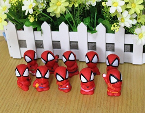 spider-man figure toy,Spider-Man Mini Figure Toys Spider Man PVC Action Figures