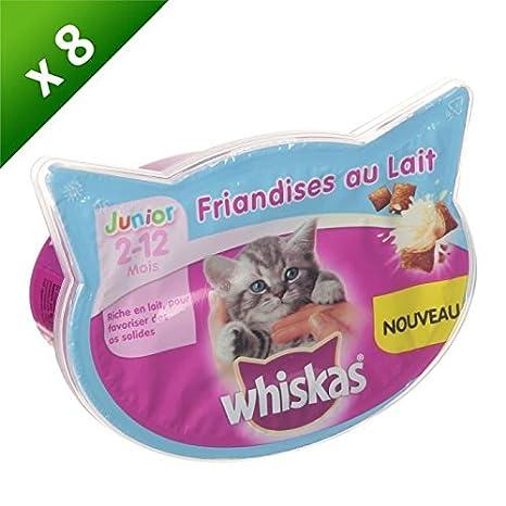 WHISKAS Friandises au lait - Pour chat junior - 55 g (x8 ...