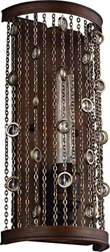 - Feiss WB1771CSTB Colorado Springs Crystal Wall Sconce Lighting, Bronze, 1-Light (7