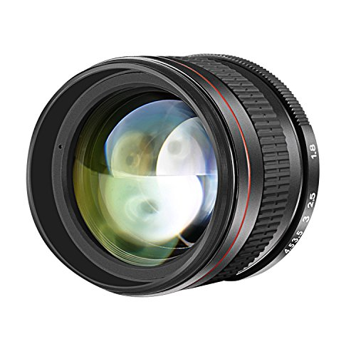 Neewer Multi-Coated 85mm f/1.8 Portrait Aspherical Telephoto Lens for Canon EOS 80D 70D 60D 60Da 50D 7D 6D 5D 5DS 1Ds Rebel T6s T6i T6 T5i T5 T4i T3i T3 T2i and SL1 DSLR Cameras, Manual Focus HD Glass by Neewer