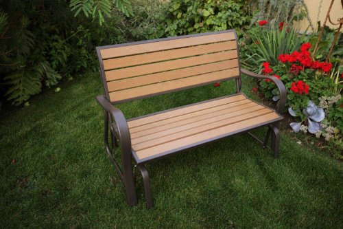 Lifetime 60055 Glider Bench 4 Feet Faux Wood Buy