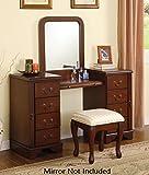 Acme 06565 Louis Philippe Cherry  Vanity And Bench Set