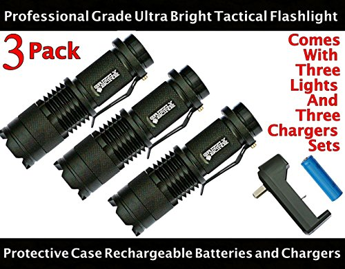 NEW-3-PACK-Professional-Grade-Ultra-Bright-Tactical-Flashlight-300-Lumen-LED-Rechargeable-Kit-Zoomable-Spotlight-Best-Boy-Scouts-Bugout-Bag-Power-Outage-Great-Camping-Lantern-Outdoor-Survival-Gear