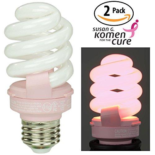 60 watt soft pink bulbs - 5