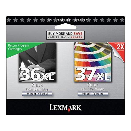 Lexmark #36xl/#37xl X3500/X3600/X4600/X5650/X6650 High Yield Black/Color Return Program Ink