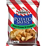 TGI Friday's Potato Skins Snack Chips, Sour Cream & Onion, 3-Ounce Bags (Pack of 6)