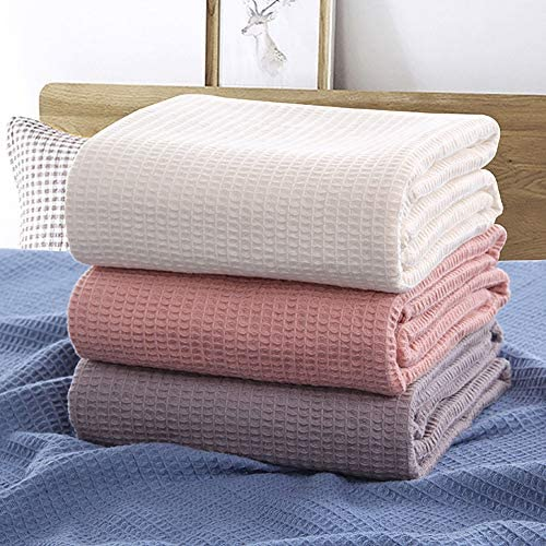 Details about  /Cotton Waffle Plaid Summer Blanket for Sofa Bed Towel Quilt Women Wrap Blanket N
