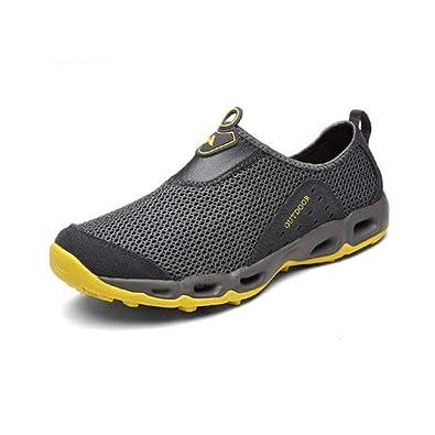 FH Zapatos al Aire Libre para el río Zapatos Antideslizantes y Transpirables para Caminar Zapatos para Caminar Ligeros y de Malla de Secado rápido: ...