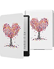 MoKo Case Fits Kindle Paperwhite (2021 Releases), Lightest Smart Shell Cover with Auto Wake/Sleep for Kindle Paperwhite 2021 E-Reader, Love Tree