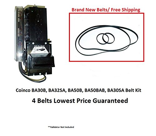 Coinco Belts BA30B Bill Validator Rebuild belt kit 4pc