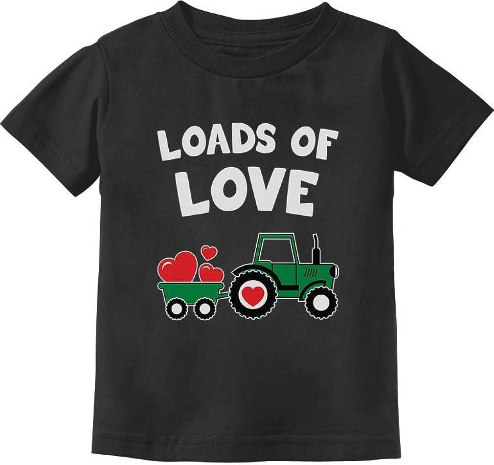 Loads of Love Valentines Gift Tractor Loving Toddler//Infant Kids T-Shirt