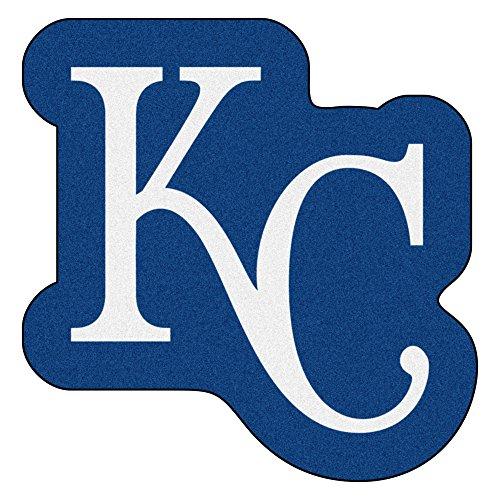 MLB Kansas City Royals Mascot Novelty Logo Shaped Area (Kansas City Royals Baseball Rug)