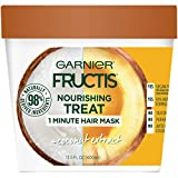 Garnier Fructis Nourishing Treat 1 Minute Hair Mask, 13.5 Fl Oz (Pack of 1) - Coconut