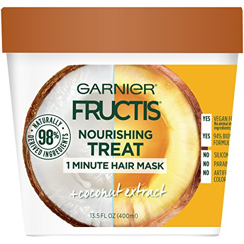 Garnier Fructis Nourishing Treat 1 Minute Hair Mask, 13.5 fl