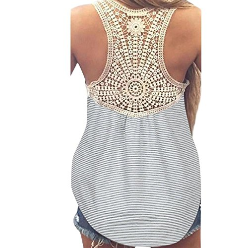 T Womens for Clothes Womens Tops Tops Vest Tops Top Sleeve Summer T Casual Short Lace Womens Light Blouse Summer Women Ladies Tank Shirt Women LuckUK Gray Shirts Tops Vest zxPOPdY
