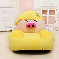 MeMoreCool Kids Cartoon Sofa Toy Plush Chair,Yellow Pig Seat for Boys and Girls,Perfect Gifts for Children on Christmas/Birthday