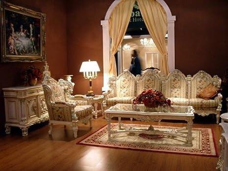 LouisXV Barroco Salón Sofá 2er 3er vector de la silla Vp0840 ...
