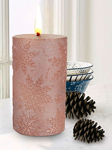Embossed Pillar Candle (Pillar Candle Table Decorations 5