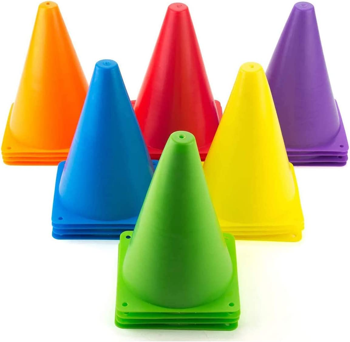 """Pack de 1//6//20 trafic cônes 9/"""" 12/"""" 15/"""" football formation marqueur agilité vitesse"""