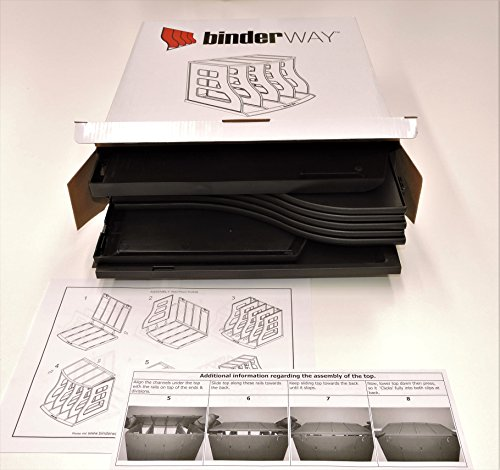 Stackable Vinyl Record Storage Rack 12'' LP Holder Organizer Over 75 Albums Ring Binder Stand Lever Arch Crate 12x12 Paper Storage Rack Magazine Holder Shelf Cube Box by Binder Way (Image #8)