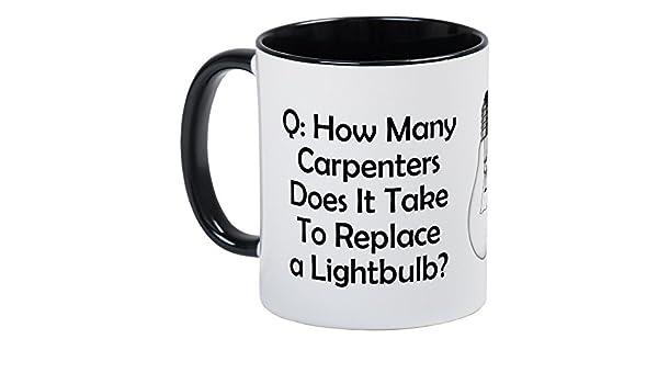CafePress – Carpintero Electricista/Riddle – Único taza de café ...