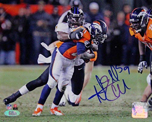 (Dannell Ellerbe Sack Baltimore Ravens Signed 8x10 Photo (GM Auth) - Steiner Sports Certified - Autographed NFL Photos)