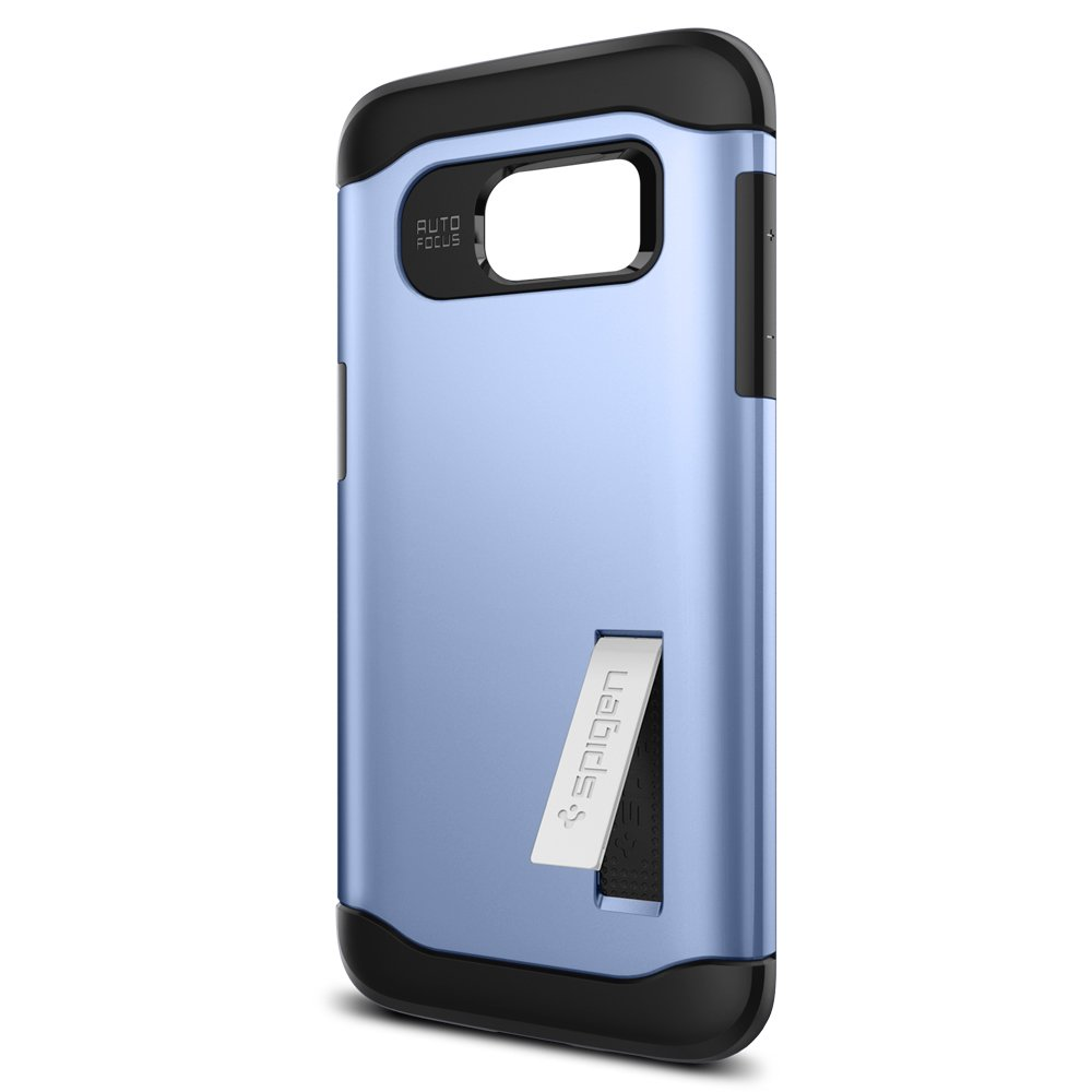 detailed look 415bf 433c4 Spigen Slim Armor Galaxy S7 Edge Case with Kickstand and Air Cushion  Technology and Hybrid Drop Protection for Galaxy S7 Edge - Blue Coral