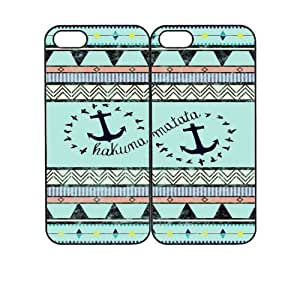 Hakuna Matata Tribal Anchor Design Best Friends Snap On Case Set Cover for Apple iPhone 4 4s +NFL Micro LED Keychain Light