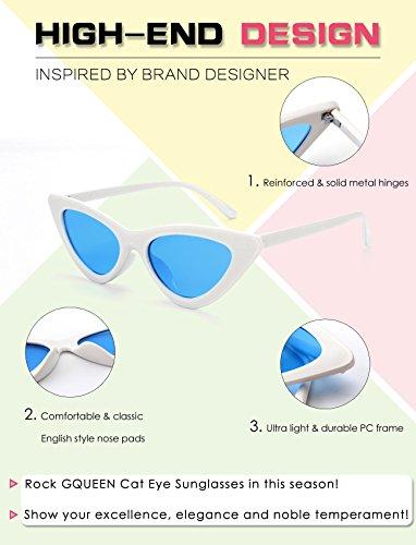 protección moda de Vintage Kurt Lentes ojo Estilo Blanco y GQUEEN de Cobain Azules GQZ7 lentes la con Gafas UV gato sol tipo tipo Marco a Clout Lentes waOnI5q