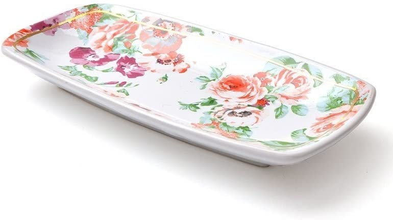 circa 1960/'s Dainty Ceramic Lidded RingTrinket Dish Floral Brocade Designed Lid with Gold Trim Outline