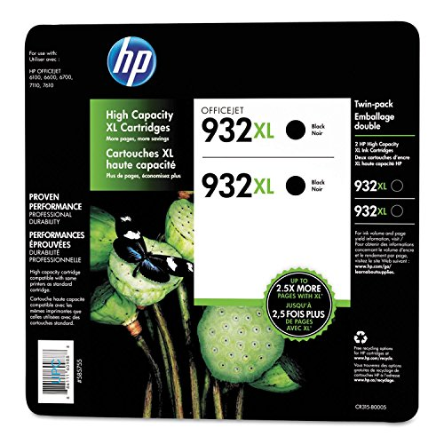 HP 932XL High Yield Original Ink Cartridge, Black (2 pk.,...