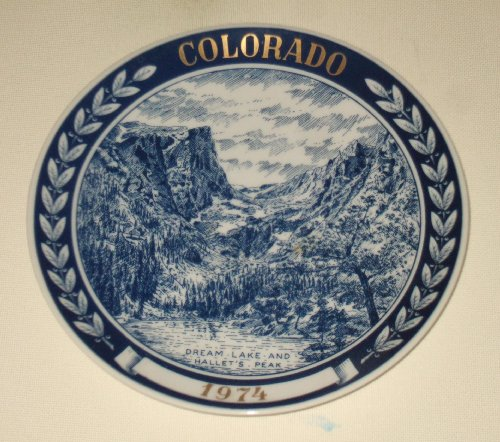 COLLECTOR PLATE: COLORADO 1974 - DREAM LAKE AND HALLET