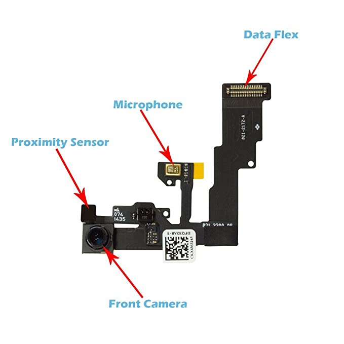OmniRepairs Front Camera Proximity Light Sensor Cable Ribbon Assembly Replacement for iPhone 6 Model (A1549, A1586, and A1589) with Repair Toolkit