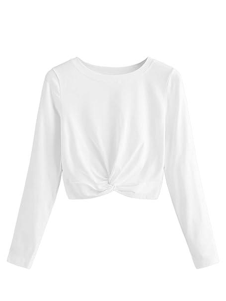 sweatyrocks women s tie dye print twist knot long sleeve crop top t Tie Dye Clothing sweatyrocks women s tie dye print twist knot long sleeve crop top t shirt blouse