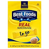 Best Foods To Go Packets Real Mayonnaise 0.38 fl ozx10 ct ( total 3.8 fl oz)