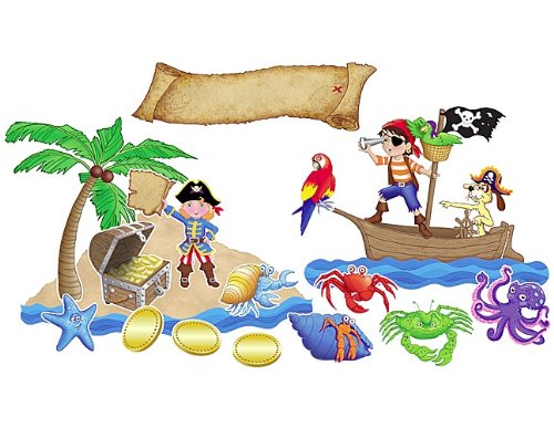 Adventure Bulletin Board Set - Teacher Created Resources Island Adventure Bulletin Board, Multi Color (4826)