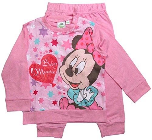 Minnie Mouse Kollektion 2016 Schlafanzug 74 80 86 92 98 Mädchen Pyjama Disney Neu Maus Rosa (74 - 80, Rosa)